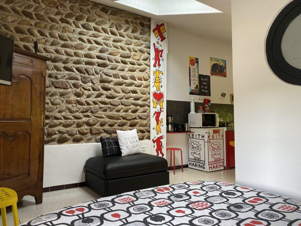 interior keith Haring studio